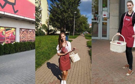 trzy piękne hostessy na degustacjach