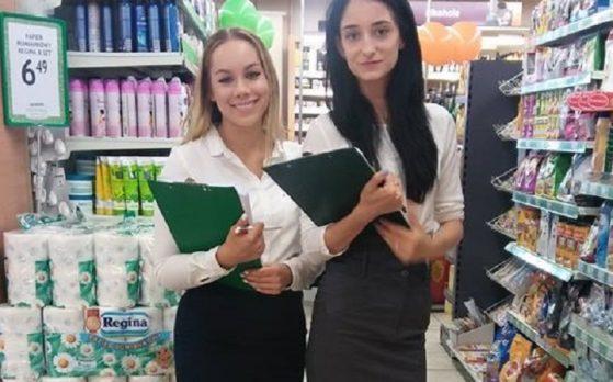 akcja w markecie z hostessami