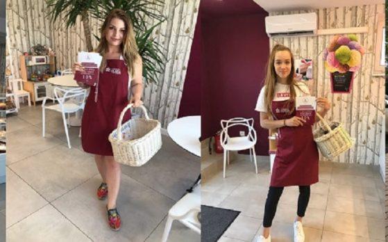hostessy na degustacji ciastek dla cukierni